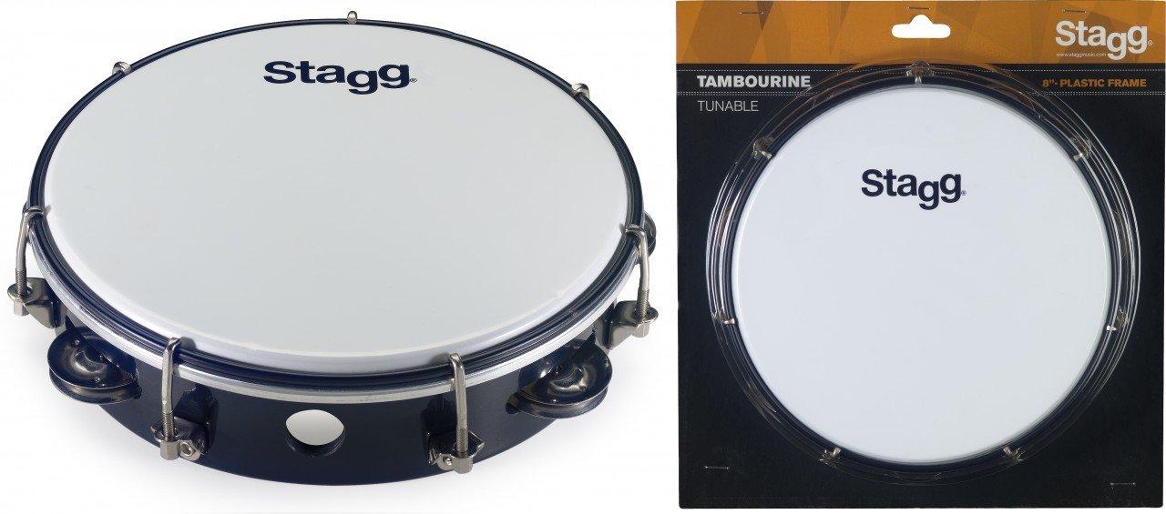 Stagg TAB-108P/BK 8-Inch Tambourine, Black