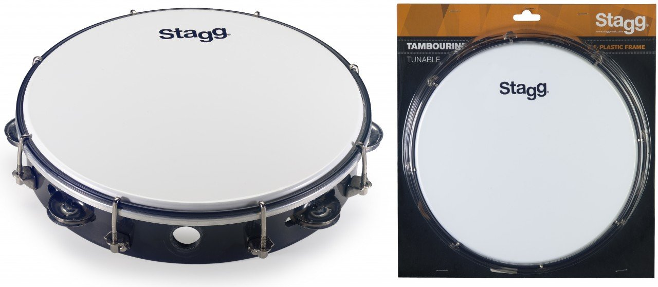 Stagg 10 Tuneable plastic tambourine w/ 1 row of jingles