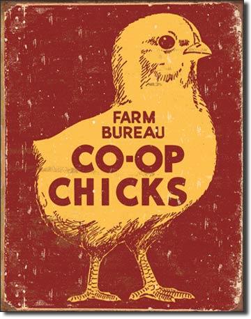Metal Sign - Co-op chicks