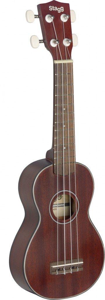 Traditional soprano Ukulele w/ solid mahogany top in black nylon gigbag