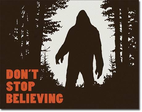Metal Sign - Dont Stop in Bigfoot