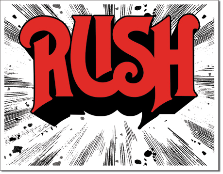 Metal Sign - Rush 1974 Cover