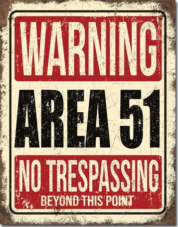 Metal Sign - Area 51