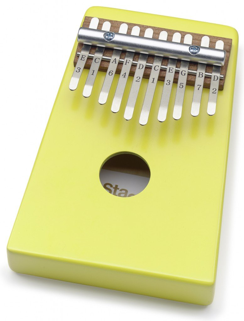 Stagg Kids 10 Key Basswood Kalimba / Thumb Piano w/Bag - Yellow # KALI-KID10-YW