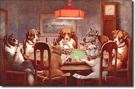 Metal Signs - Dogs Playing Poker