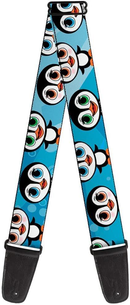 Guitar Strap Cute Penguins Blue Bubbles 2 Inches Wide