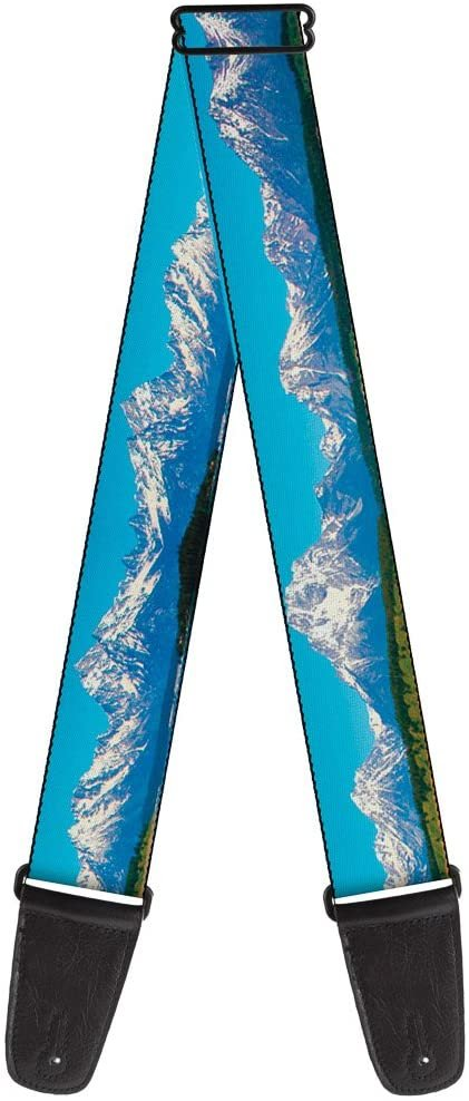Guitar Strap Landscape Snowy Mountains 2 Inches Wide