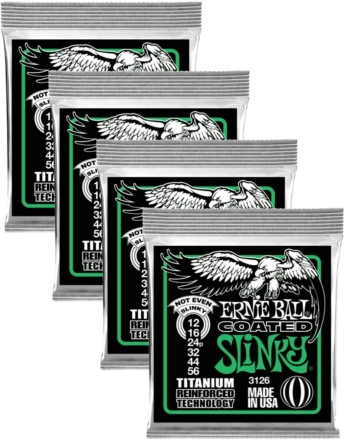 Ernie Ball Coated Not Even Slinky Electric Guitar Strings