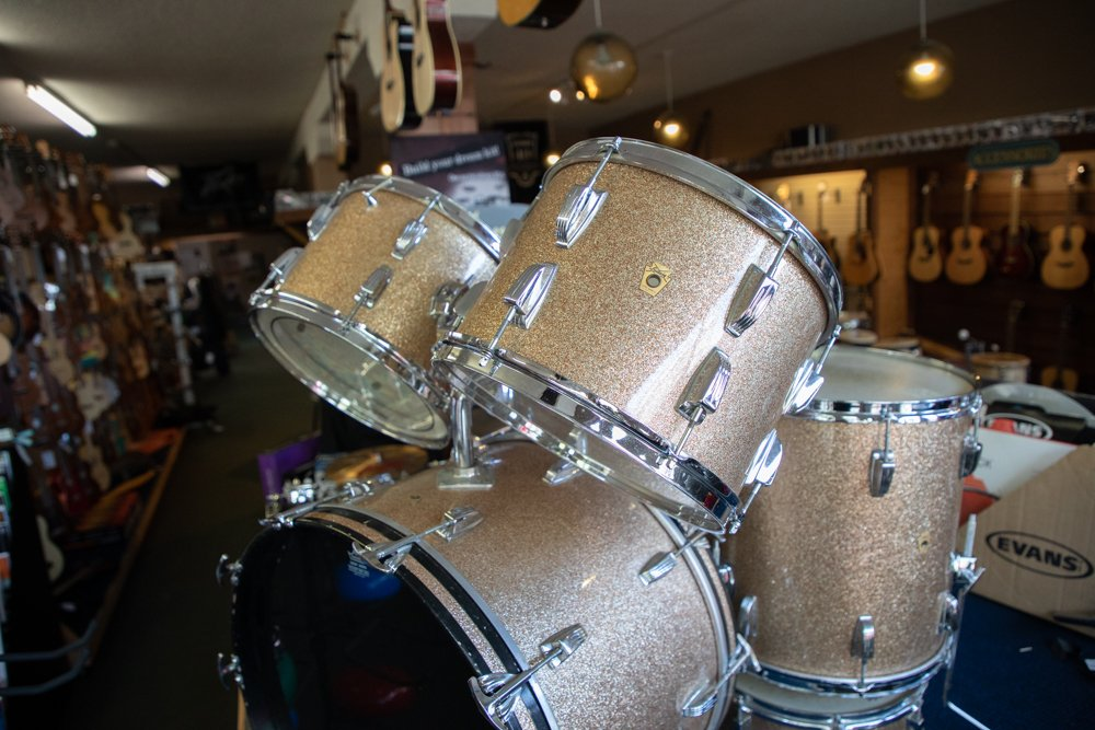 Ludwig 1960's  Pink Champagne Sparkle 5-Piece Drum Set (Consignment)