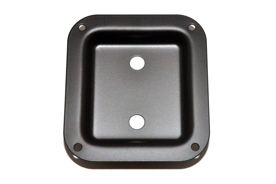 AH-9312-003 Black Metal Dish Speaker Cabinet Jackplate