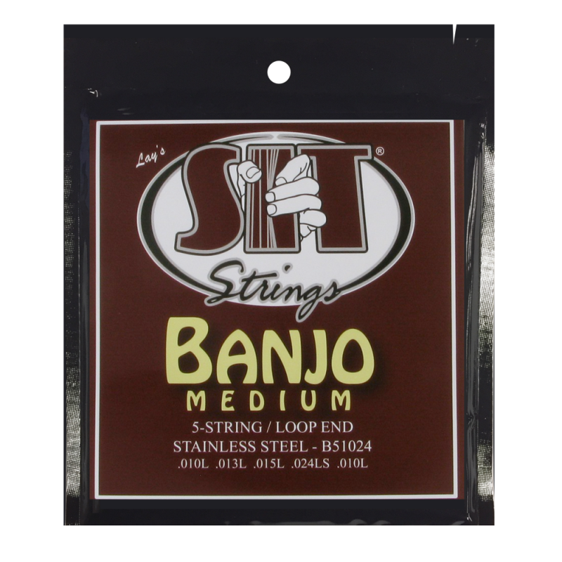 SIT Banjo 5 Strings Medium stainless steel .010-.024 B51024 088091
