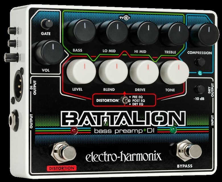 Electro-Harmonix Battalion (bass preamp + di) Bass Pedal