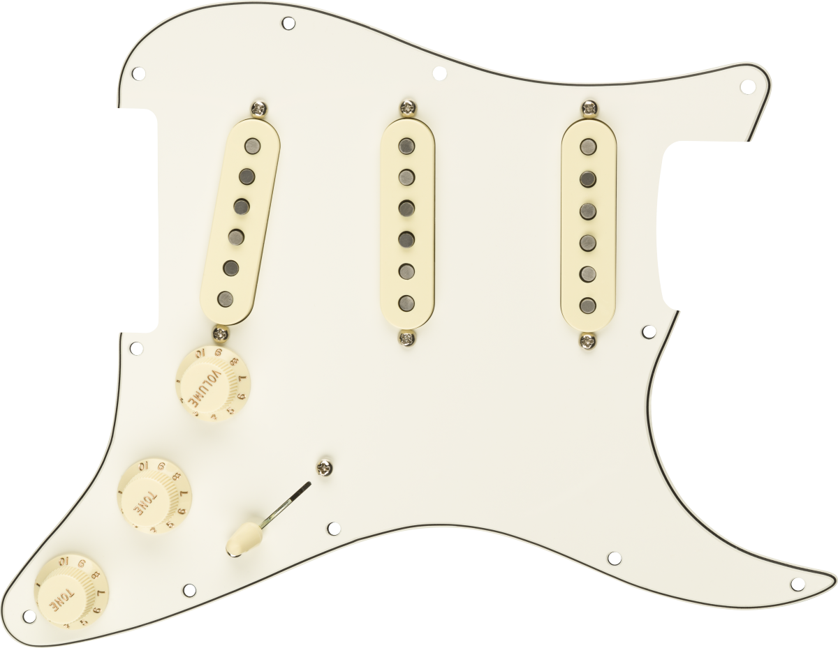 Fender Custom Fat '50s SSS Pre-wired Stratocaster Pickguard - Parchment 3-ply