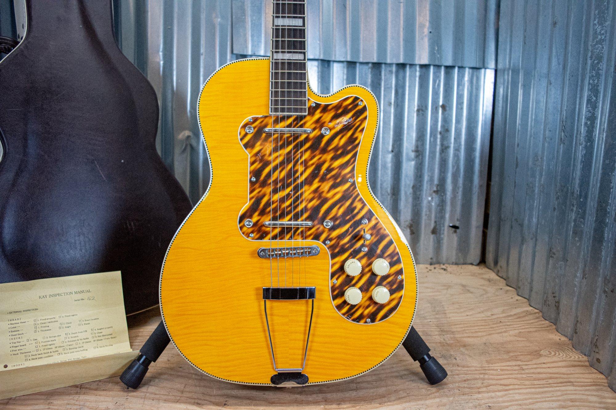 Kay K161V Thin Twin Electric Guitar Vintage Reissue-Artist Blonde WOHSC