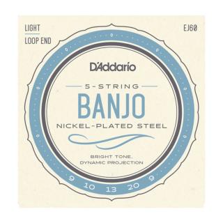 D'Addario EJ61 5-String Banjo Strings Nickel Light 9-20