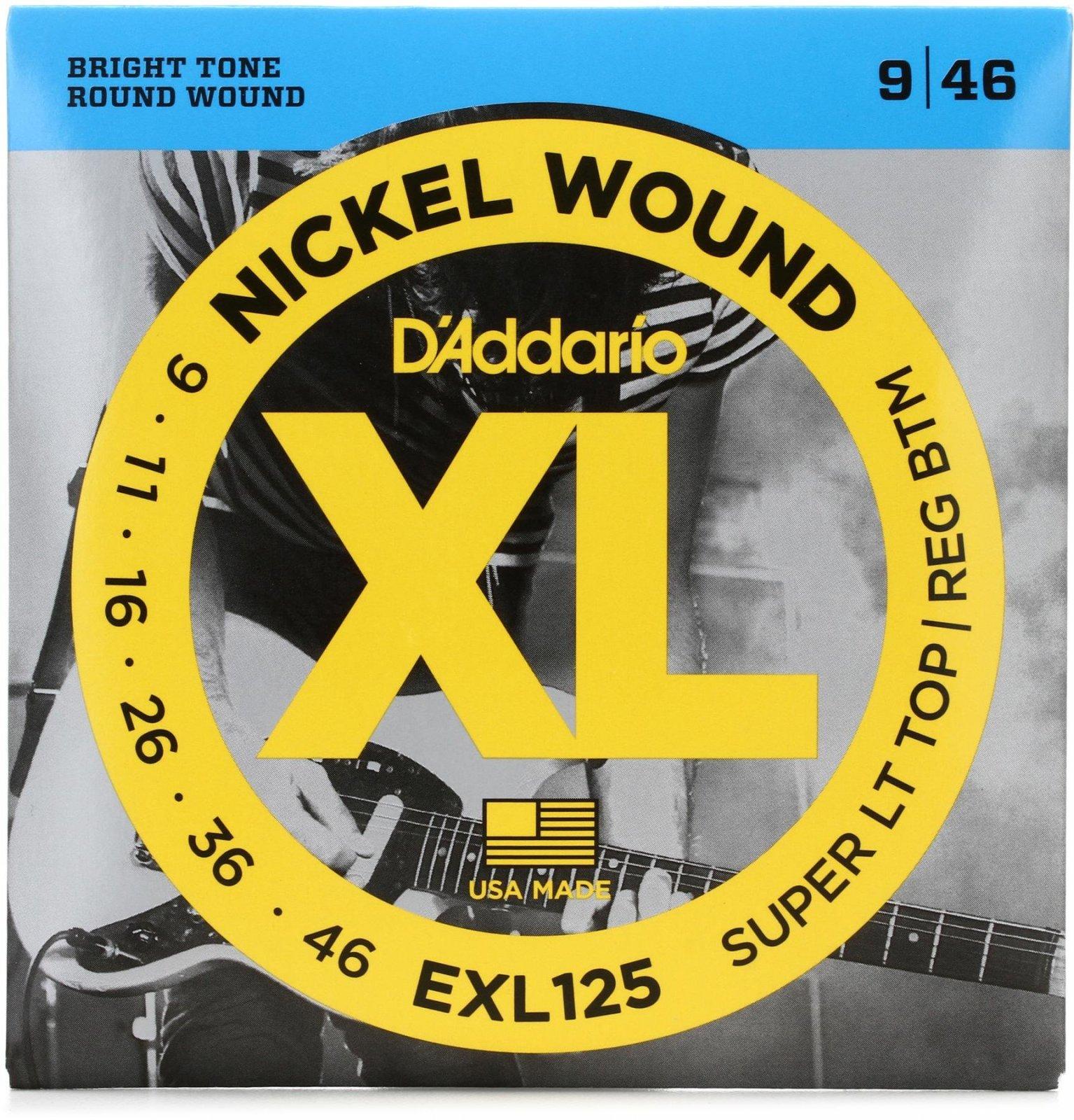 D'addario Super LT Top/Reg BTM Nickel Wound Electric Guitar Strings
