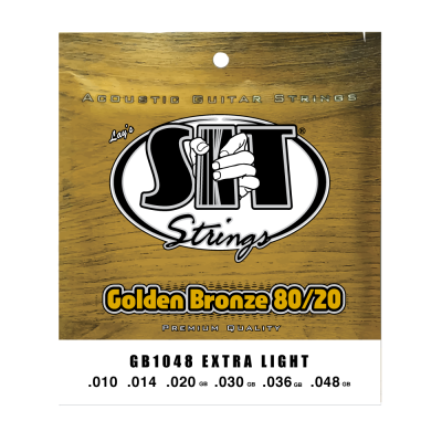 S.I.T. String GB1048 Extra Light 80/20 Bronze Acoustic Guitar String