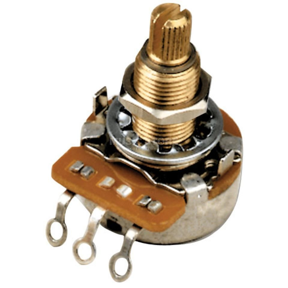 Gibson Accessories 500k Ohm Audio Taper Potentiometer - Short Shaft 500k Ohm Potentiometer with Audio Taper and Short Shaft