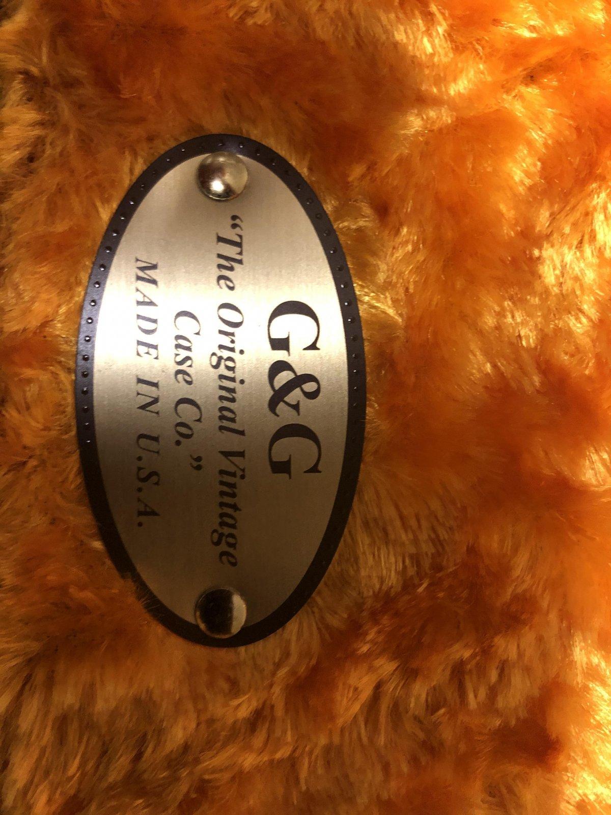 G&G Deluxe Jaguar /Jazzmaster /Toronado /Jagmaster  Hardshell Case Brown with Gold Plush Interior (USED)