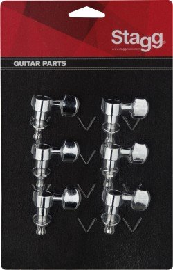 Stagg KG673CR Electric Guitar Machine Heads - Chrome