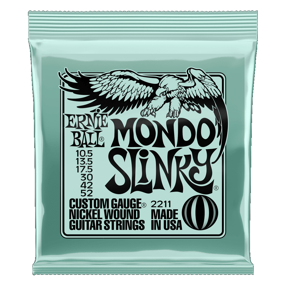Mondo slinky nickel wound electric guitar strings 10.5 - 52 gauge