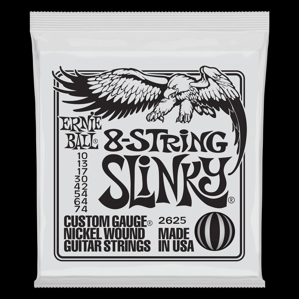 SLINKY 8-STRING NICKEL WOUND ELECTRIC GUITAR STRINGS - 10-74 GAUGE
