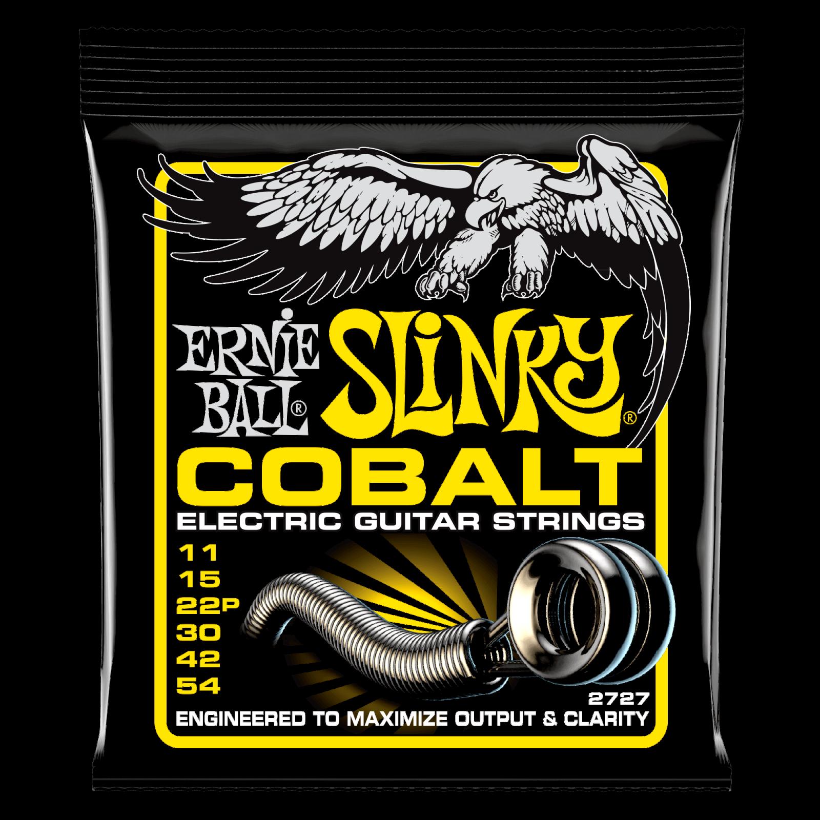 Ernie Ball Cobalt Beefy Slinky Electric Guitar Strings 11-54 P02727