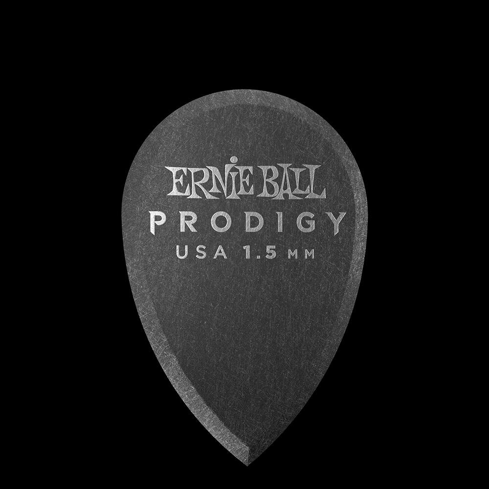 Ernie Ball 1.5mm Black Teardrop Prodigy Guitar Picks
