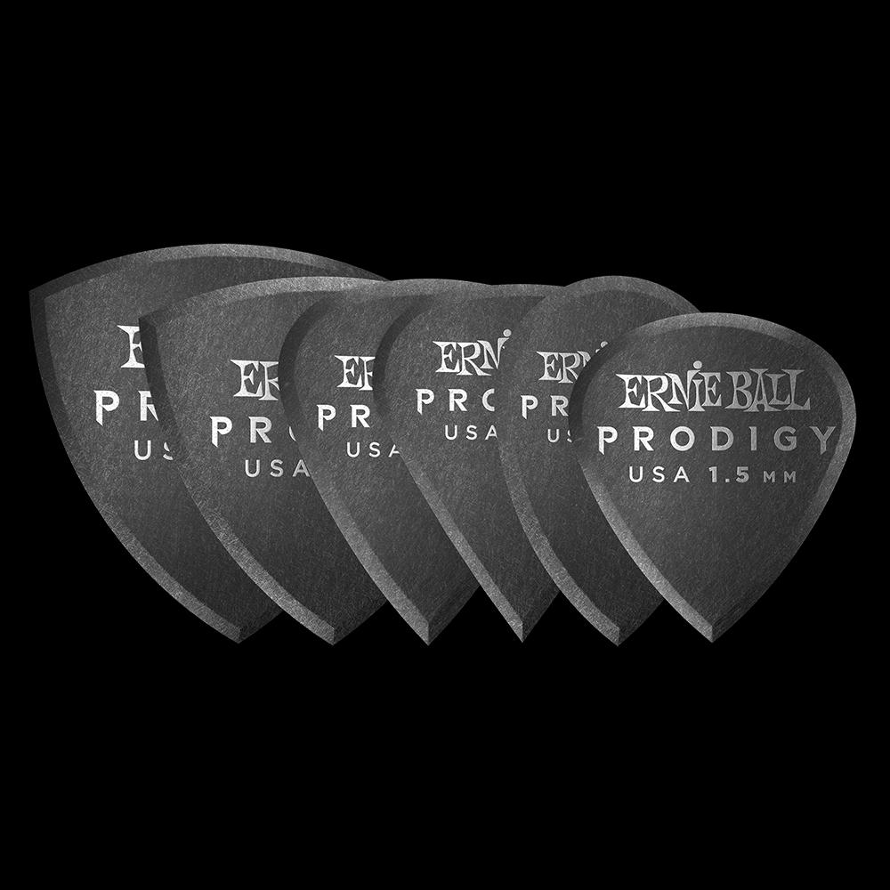 Ernie Ball 1.5mm Black Multipack Prodigy Guitar Picks