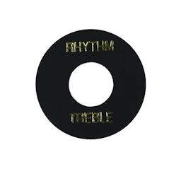 Toggle Switch Washer Black with Gold Imprint