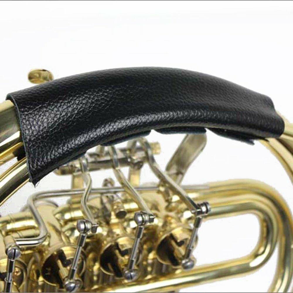 Belmonte Whiteline Leather French Horn Hand Guard (Black)