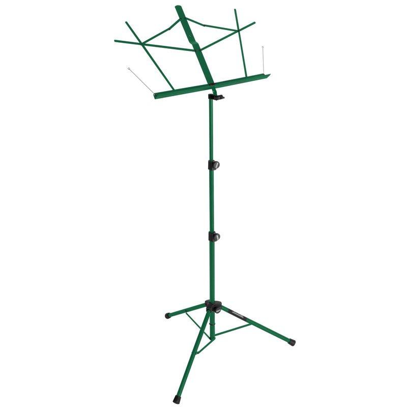 Tripod Base Sheet Music Stand (Green w/ Bag)