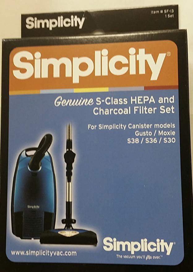 Riccar HEPA Media and Charcoal Filter Set for Immaculate and Impeccable Canisters RF17