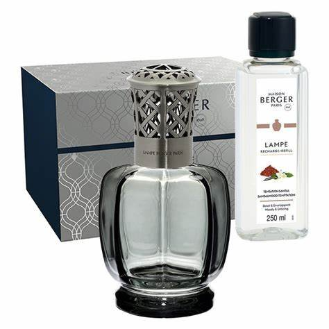 Maison Berger Paris (Lampe Berger) Belle Epoque Grey Gift Set Includes Sandalwood Temptation 250 ml