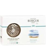 Maison Berger Paris (Lampe Berger) Car Diffuser with Vent Clip and One Ocean Breeze Scent Tab