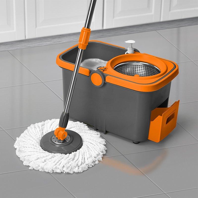 Casabella Spin Mop Orange and Graphite color