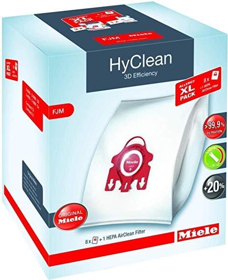Miele XL F/J/M Bags 8pk + 4 filter