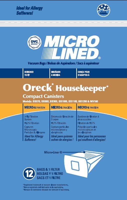 Oreck BB Bags 12 packs + 1 Pre-motor filter