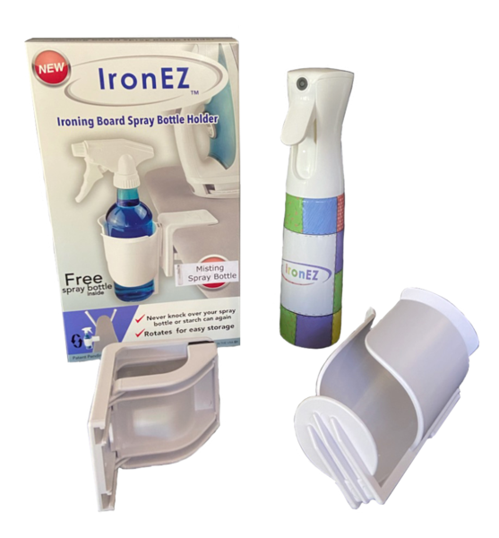 Ironing Board Spray Bottle Holder w/ Misting Bottle