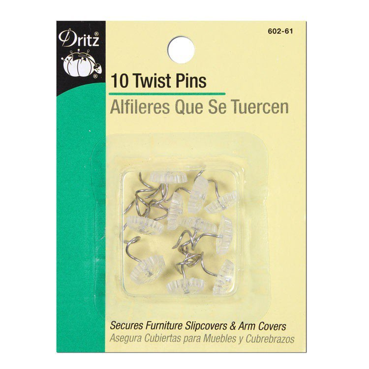 Upholstery Twist Pins 10ct
