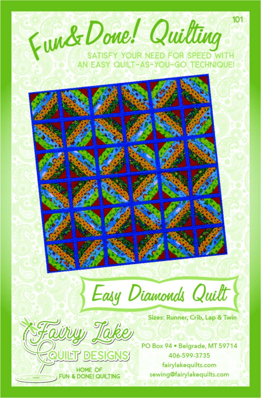 Digital Easy Diamonds Quilt | Fun & Done Quilting | 101