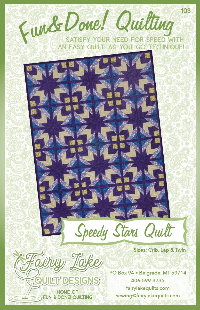 Digital Speedy Stars Quilt | Fun & Done Quilting | 103