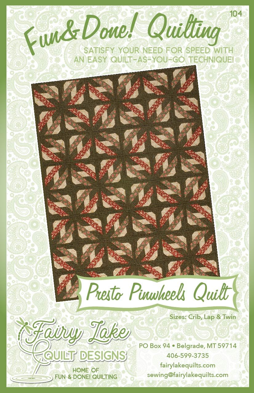 Digital Presto Pinwheels Quilt | Fun & Done Quilting | 104