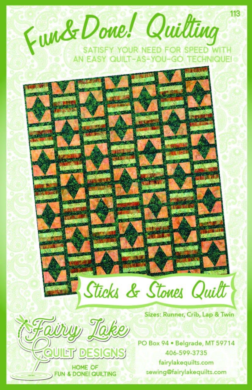 Sticks & Stones Quilt   Fun & Done Quilting   113