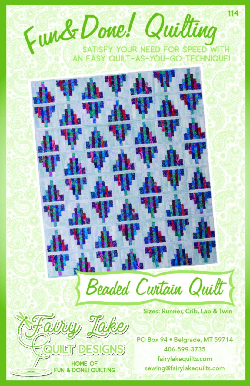 Digital Beaded Curtain Quilt | Fun & Done Quilting | 114