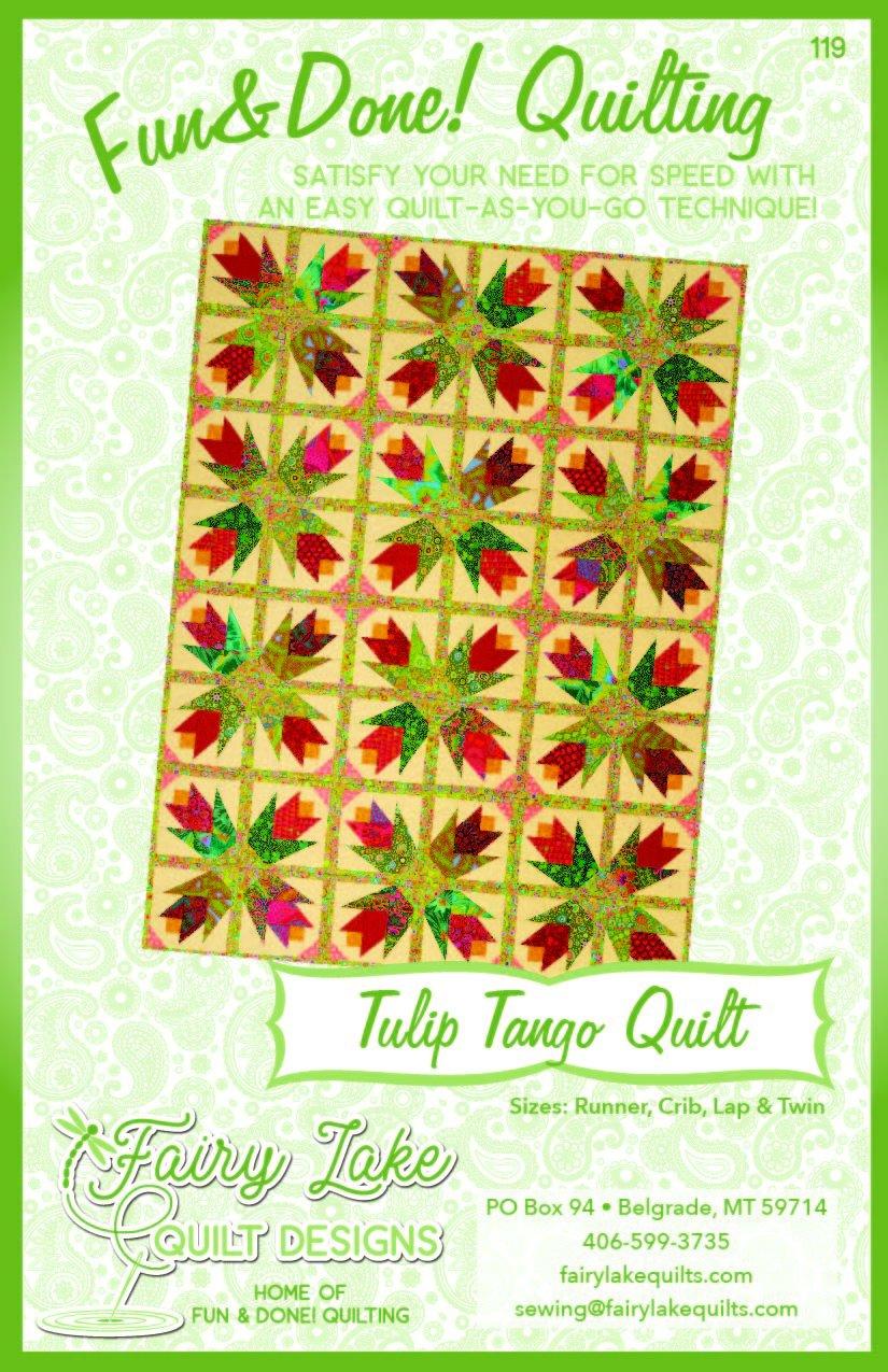 Digital Tulip Tango Quilt | Fun & Done Quilting | 119