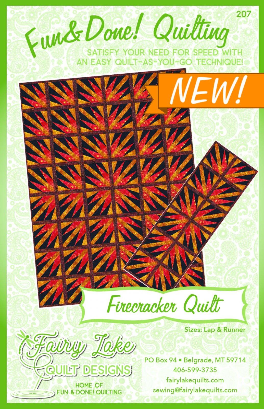 Firecracker   Fun & Done! Quilting Pattern   FLQD207