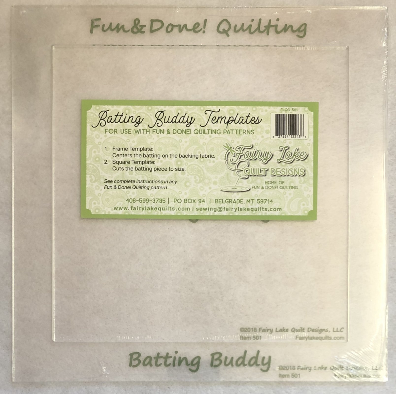 The Batting Buddy 2-piece Template Set | Fun & Done Quilting | 501