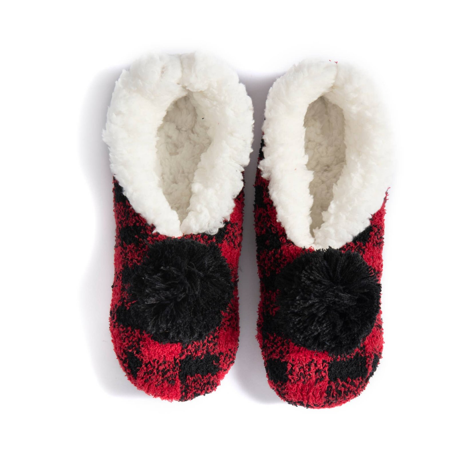 Buffalo Plaid Pom Slipper