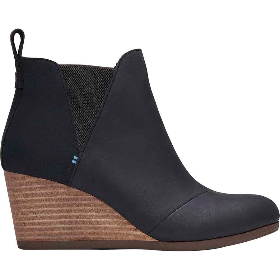 Kelsy Leather & Suede Wedge Bootie